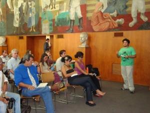Felipe Melo durante a primeira audiência no Rio de Janeiro
